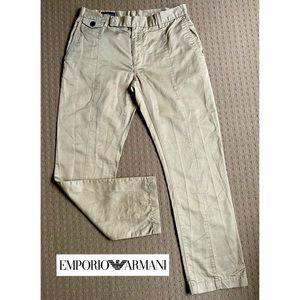 Emporio Armani khaki crop pants trousers AU12